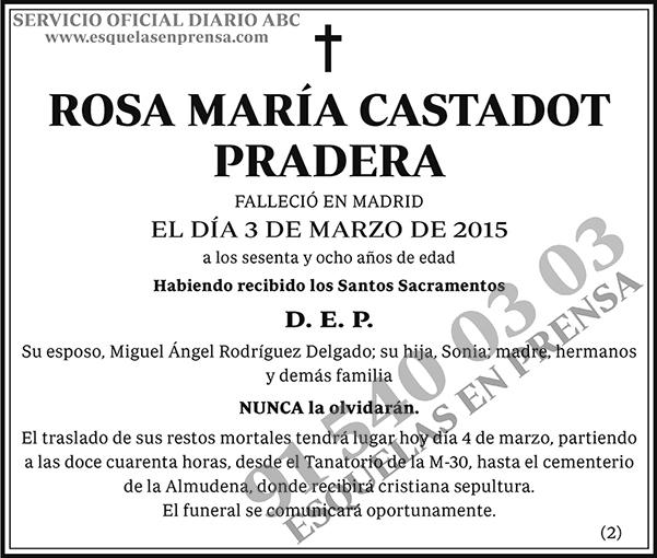 Rosa María Castadot Pradera
